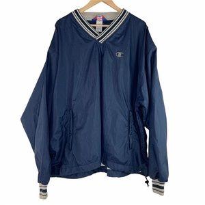 Vintage Champion Pullover Windbreaker Sweater Navy